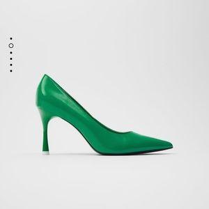 Zara Green Heel Size 41
